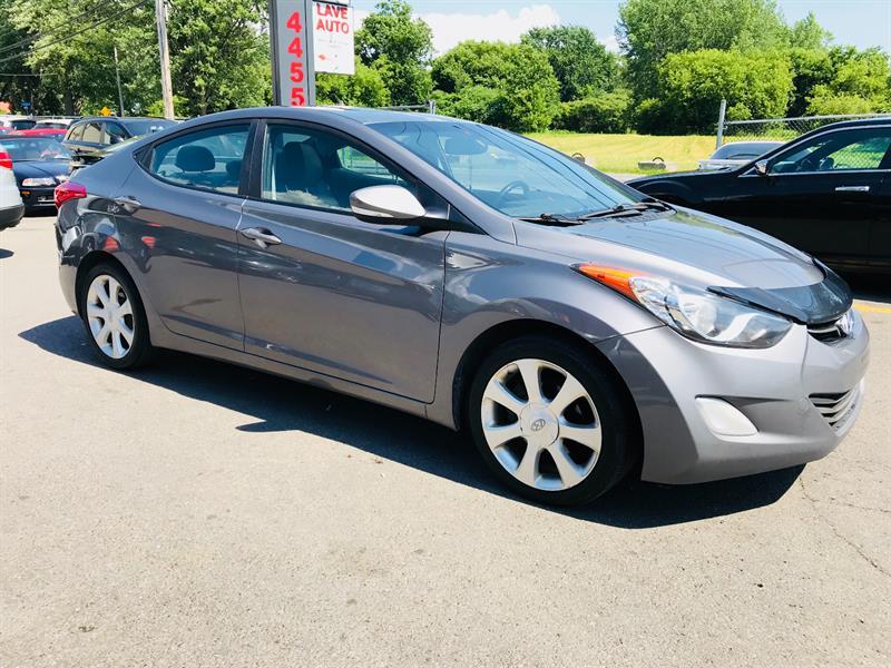 Hyundai Elantra 2012 Limited-Automatic-Cuir-Toit-Jamais Accidentée #4728-2