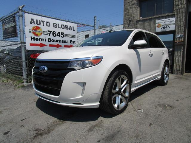 Ford EDGE 2012 SPORT, MAGS 22 POUCES, CUIR, TOIT, NAV, COMME NEUF #18-2336