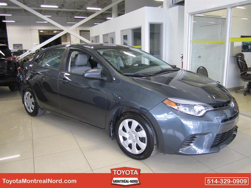 Toyota Corolla 2015 LE CVT Aut/Ac/Vitres,Portes,Miroirs Electriques  #3661 AT