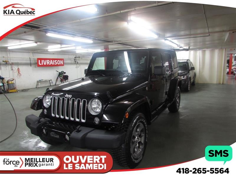 Jeep Wrangler 2018 Unlimited Sahara *4 PORTES* #QU10240