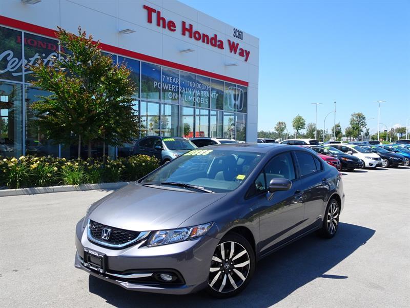 2015 Honda Civic Touring under warrenty until 2022 or 160,000km #18-807A