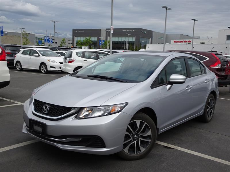 2015 Honda Civic EX CVT! Honda Certified Extended Warranty to 160,0 #LH8042