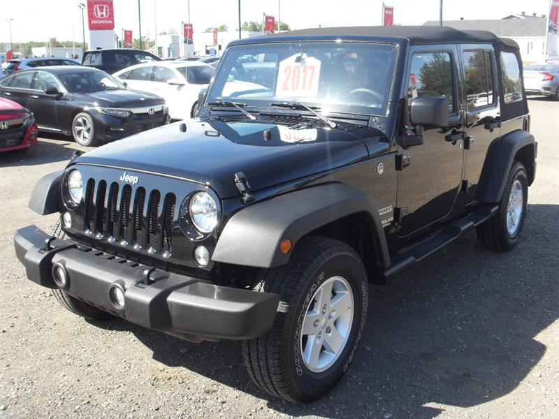 Jeep Wrangler Unlimited 2017 4WD 4dr Sport #H18170A
