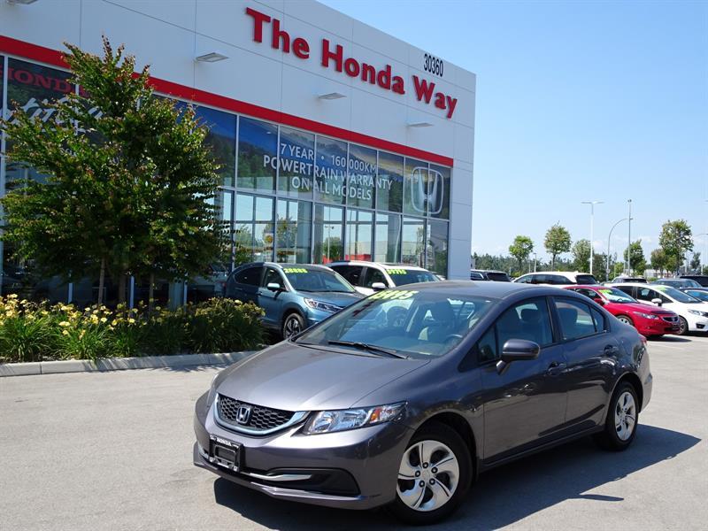 2015 Honda Civic LX Sedan CVT warranty until 2022 or 160,000km #18-688A