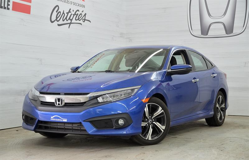 Honda Civic Berline 2016 4 portes Touring TOIT MAGS NAV Turbo #U-1322