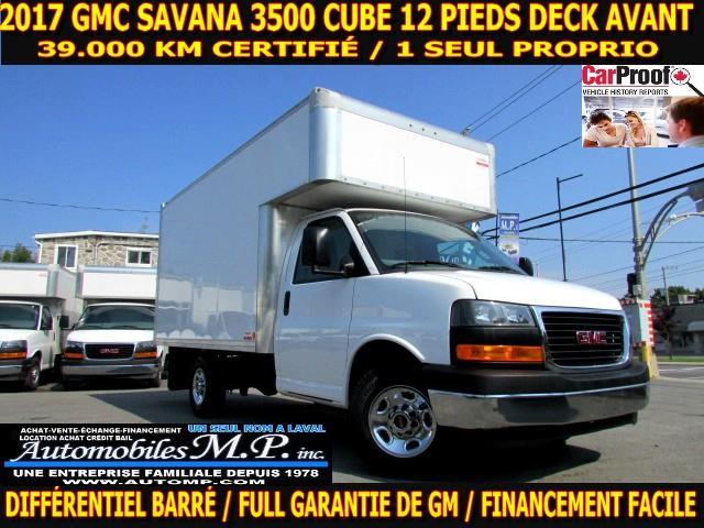 GMC Savana 3500 Cube 12 Pieds 2017 DECK AVANT 39.000 KM CERTIFIÉ 1 SEUL PROPRIO #8669