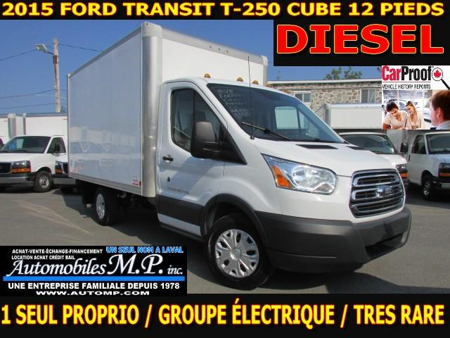 Ford Transit Cutaway 2015 T-250 CUBE 12 PIEDS DIESEL ROUE SIMPLE #0387