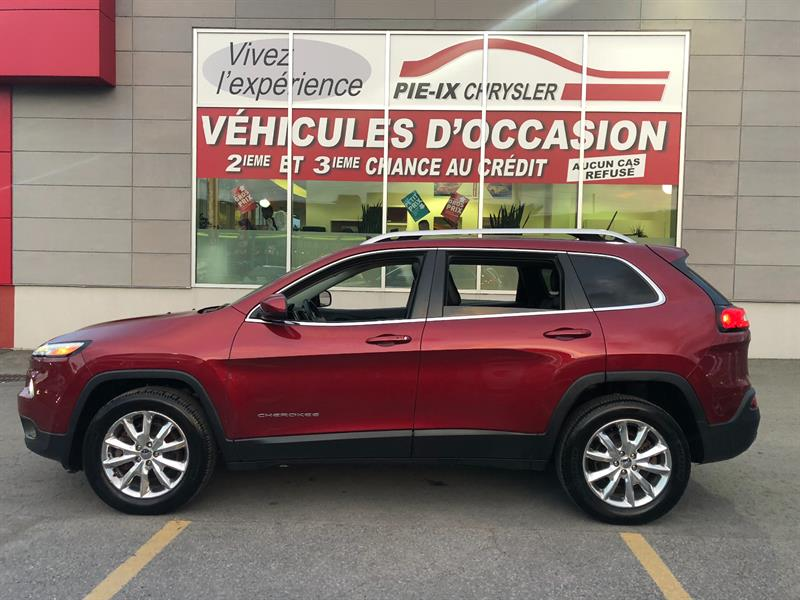 Jeep Cherokee 2015 LIMITED+TOIT PANO+NAV+CUIR+4WD+WOW! #UD4779