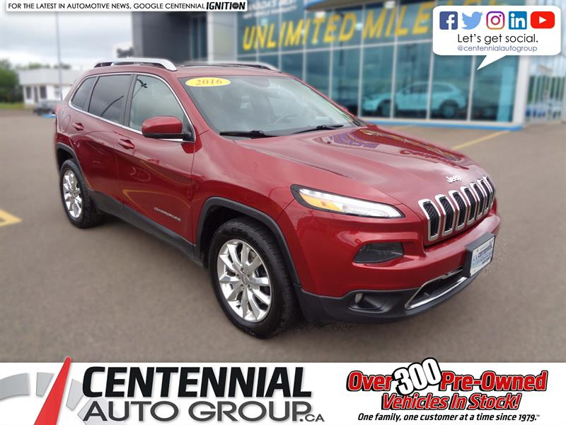 2016 Jeep Cherokee 4WD 4dr Limited #6222A