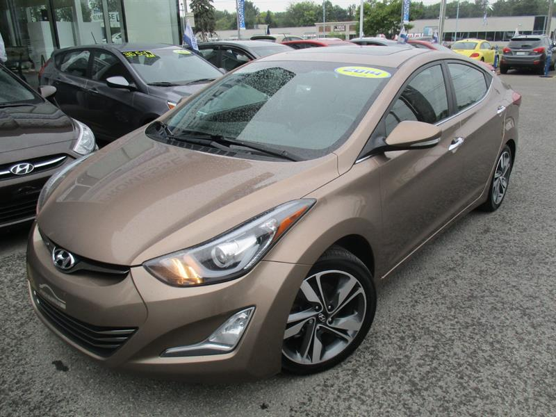 Hyundai Elantra 2014 Limited CUIR,CAMÉRA RECUL,TOIT OUVRANT,BLUETOOTH #18644A