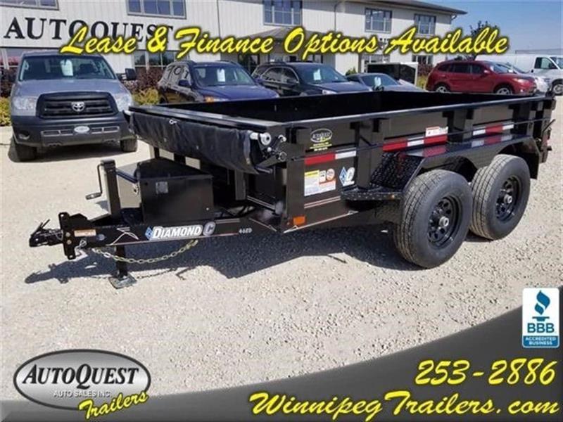 2017 Diamond C 46ED 10' x 77 Dump Trailer - 9 890K