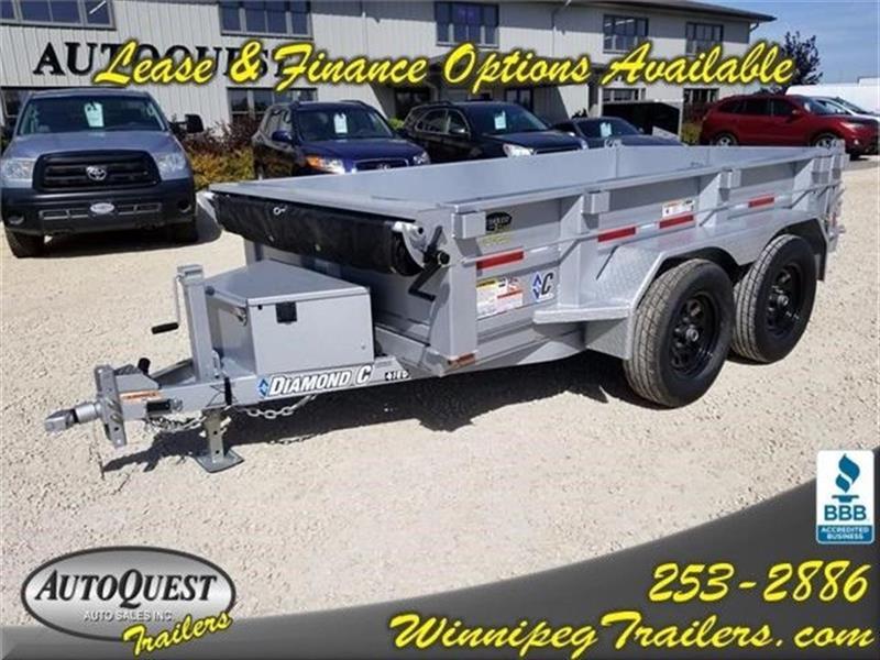 2017 Diamond C 41ED 10' x 60 Dump Trailer - 7 000K