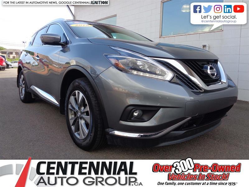 2018 Nissan Murano SL | AWD | Leather | NAV | Bluetooth | Moonroof #P18-090