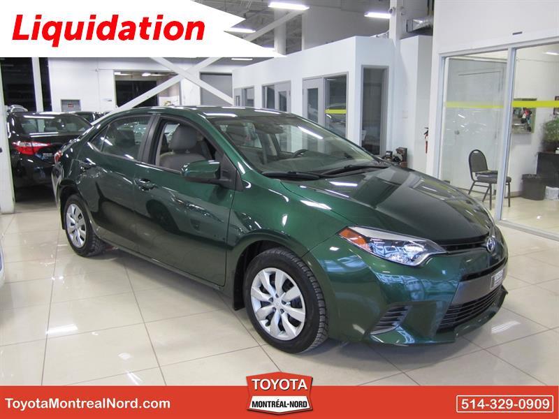 Toyota Corolla 2015 LE CVT Aut/Ac/Vitres,Portes,Miroirs Electriques  #3088 E