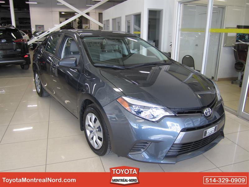 Toyota Corolla 2015 LE CVT Aut/Ac/Vitres,Portes,Miroirs Electriques  #3643 AT