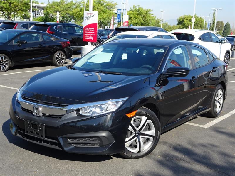 2017 Honda Civic Sedan LX CVT! Honda Certified Extended Warranty to #B12330