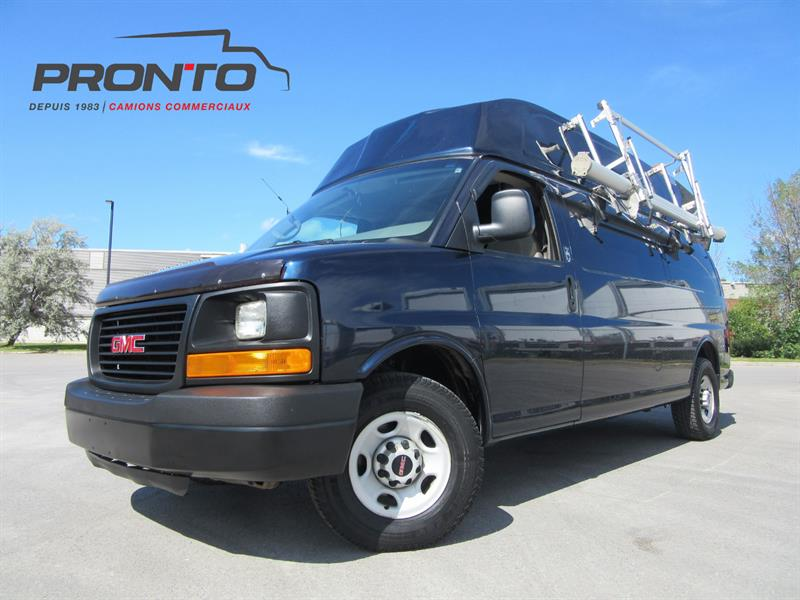 GMC Savana Cargo Van 2009 3500 Toit surélevé ** bas kilo ** Voir équipement! #3716
