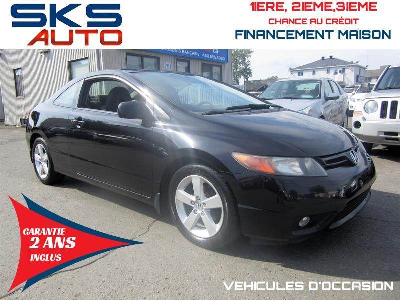 Honda Civic Cpe 2008 (GARANTIE 2 ANS INCLUS) *FINANCEMENT MAISON* #SKS-4192-1