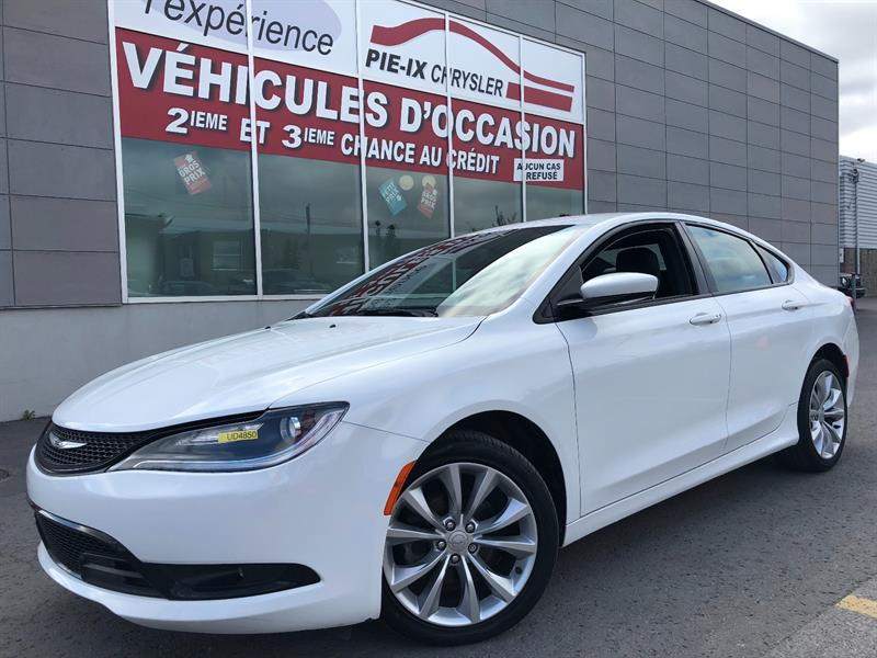 Chrysler 200 2015 4dr Sdn S+MAGS+CUIR/TISSU+WOW! #UD4850