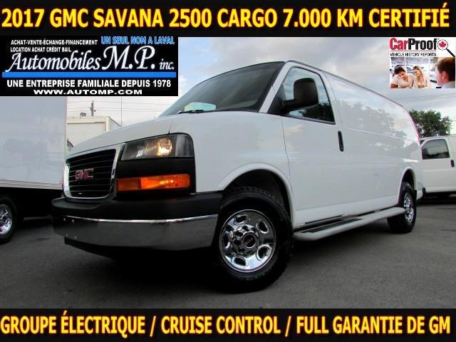 GMC Savana 2500 2017 CARGO 7.000 KM GROUPE ÉLECTRIQUE COMME UNE NEUVE #9417