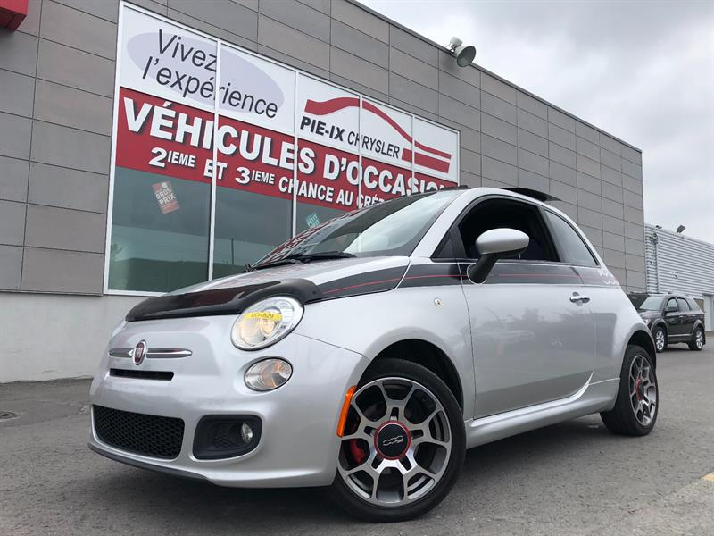 Fiat 500 2012 2dr HB Sport+MAGS+CUIR+TOIT+WOW! #UD4829