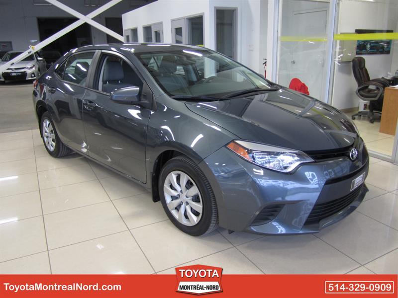 Toyota Corolla 2014 LE CVT Aut/Ac/Vitres,Portes,Miroirs Electriques  #3382 AT