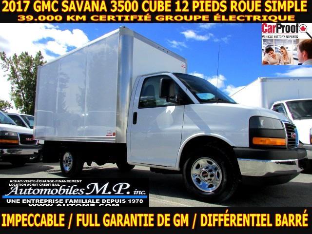 GMC Savana 3500 Cube 12 Pieds 2017 GROUPE ÉLECTRIQUE 39.000 KM CERTIFIÉ ROUE SIMPLE #3676