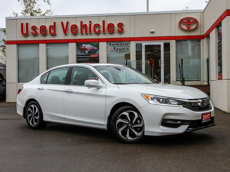 2017 Honda Accord CRAZY LOW KMs   EX-L V6   Leather   Sunroof #P7552
