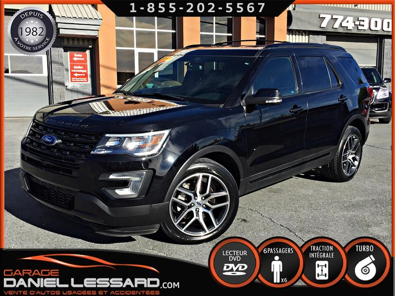 Ford Explorer 2017 SPORT, 4WD, MAG 20 P, GPS, CUIR, TV DVD #78480