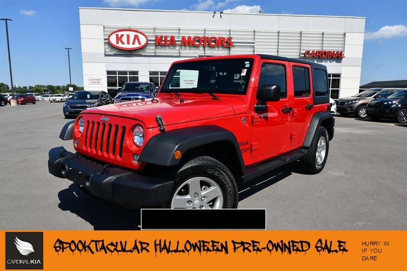 2014 jeep wrangler unlimited sport l hard and soft top used for sale in niagara falls at. Black Bedroom Furniture Sets. Home Design Ideas
