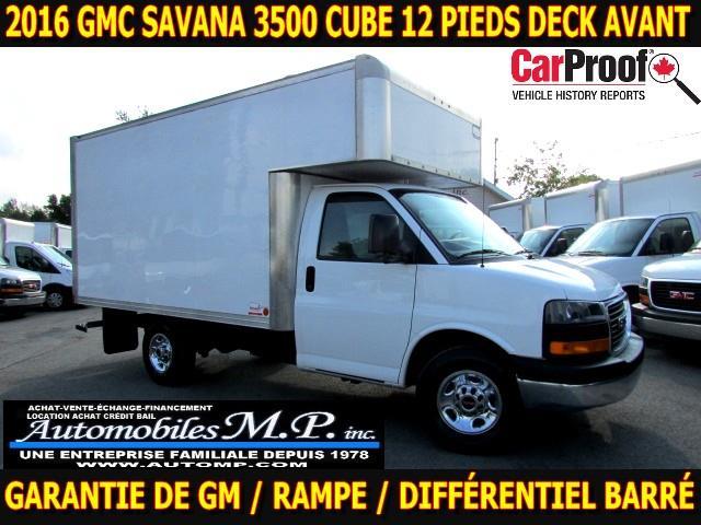 GMC Savana 3500 Cube 12 Pieds 2016 DECK AVANT GARANTIE DE GM IMPECCABLE #3921