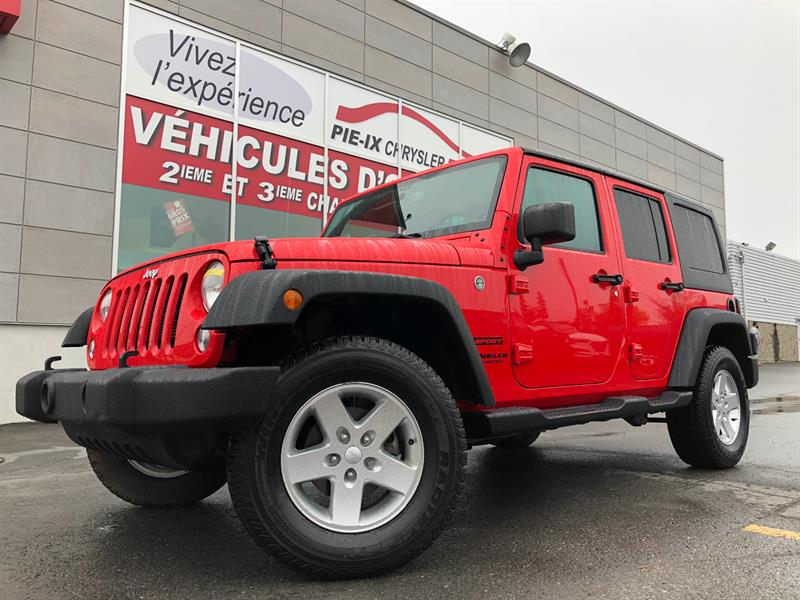 Jeep Wrangler Unlimited 2016 SPORT+A/C+GR.ELEC+2 TOIT+MAGS+WOW! #UD4927