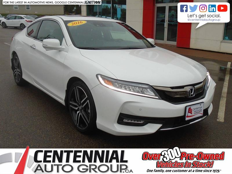 2016 Honda Accord Coupe Touring | Bluetooth | Backup Camera | Moon Roof | #9547A