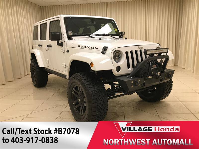 2016 Jeep Wrangler Unlimited Rubicon 4WD #B7078
