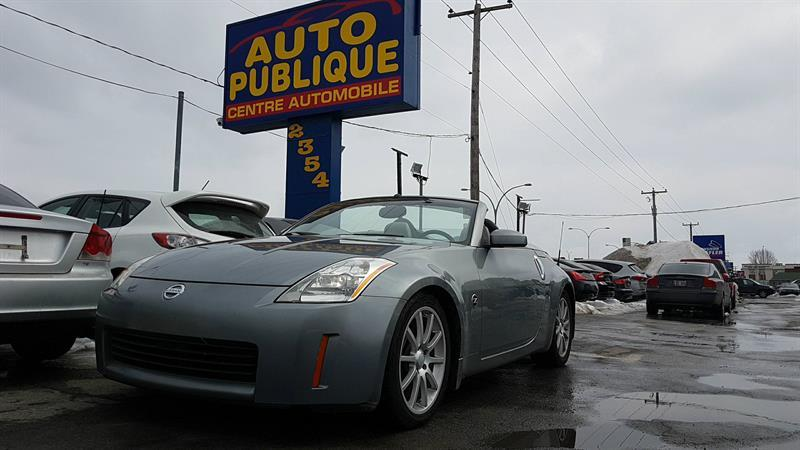 nissan 350z convertible roadster manu 2005 occasion vendre laval chez auto publique. Black Bedroom Furniture Sets. Home Design Ideas