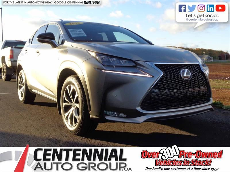 2015 Lexus NX 200t AWD | ONE OWNER | F SPORT | LOCAL TRADE |  #S18-213A