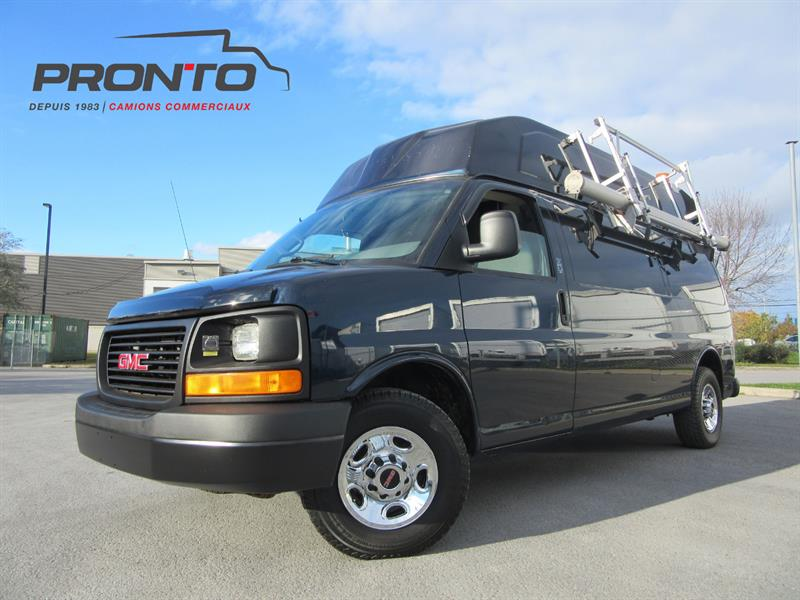 GMC Savana Cargo Van 2010 3500 Allongé Extended * Toit surelevé High roof!   #3751
