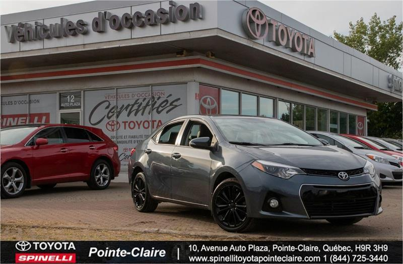 Toyota Pointe Claire >> 2015 Toyota Corolla S Pkg 50th Anniversary Used For Sale