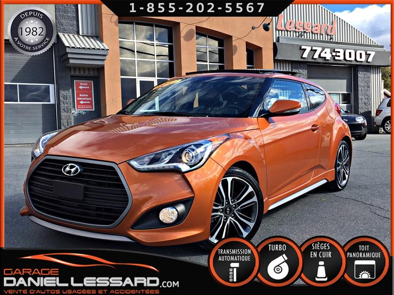 Hyundai Veloster 2017 TURBO, CUIR, TOIT PANORAMIQUE, GPS,  MAG 18 P #78457