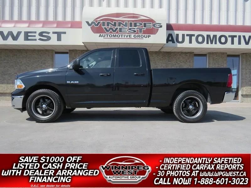 2010 Dodge Ram 1500 BLACK SPORTY 4X4, V8 MAGNUM, SHARP LOCAL TRADE! #GW4191