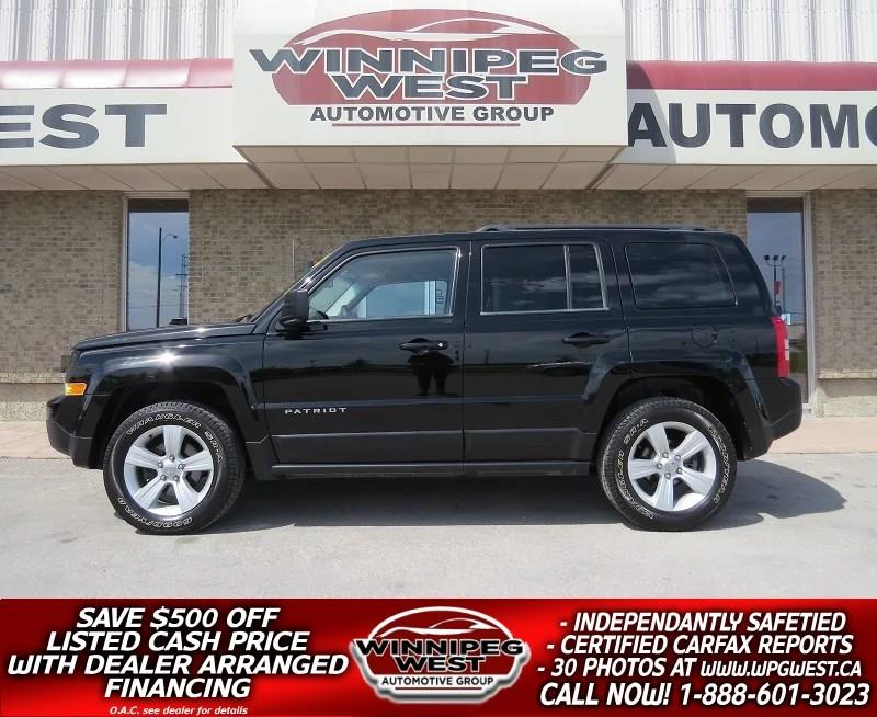 2014 Jeep Patriot NORTH EDITION 4X4, BLUETOOTH, LOW KMS, LOCAL TRADE #GNW4591