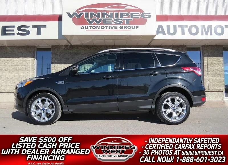2014 Ford Escape TITANIUM EDITION AWD, PAN ROOF, NAV, HTD LEATHER #GNW4802