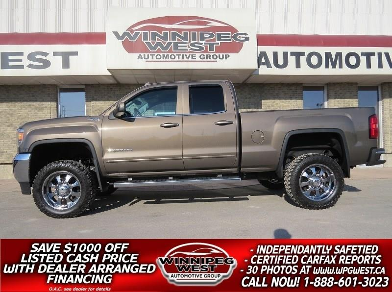 2015 GMC Sierra 2500HD LIFTED SLE DURAMAX DIESEL 4X4, HTD SEATS, LOW KMS #DWL4821
