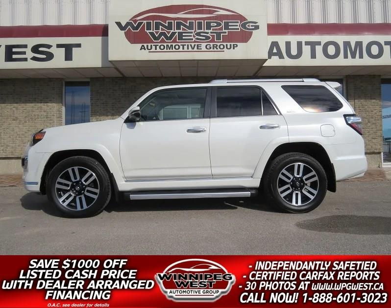 2016 Toyota 4Runner LTD 4X4 7 PASS, NAV, ROOF, LEATHER, CAMERA, LOCAL #GIW4763