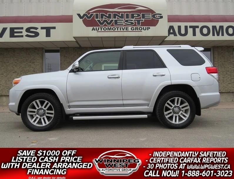 2013 Toyota 4Runner LIMITED V6 4x4, 7PASS, ROOF, NAV, LEATH, LOCAL #GIW4762