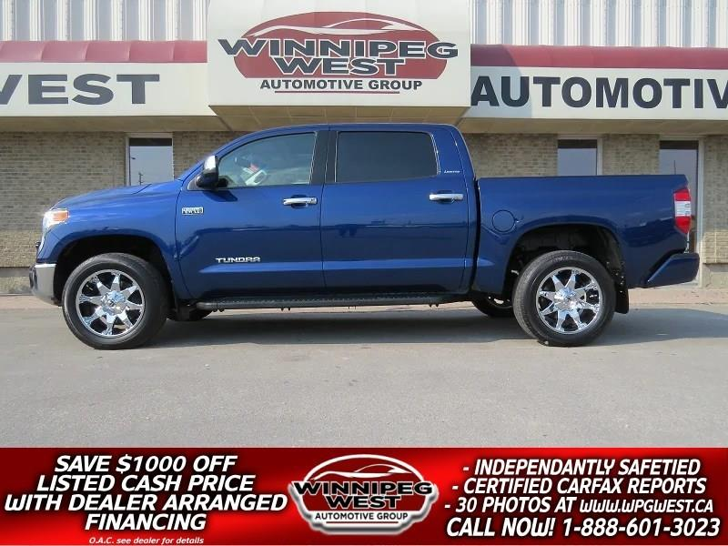 2014 Toyota Tundra LIMITED CREW MAX 4X4, LOADED, 1 OWNER, LOW KMS! #GW4184