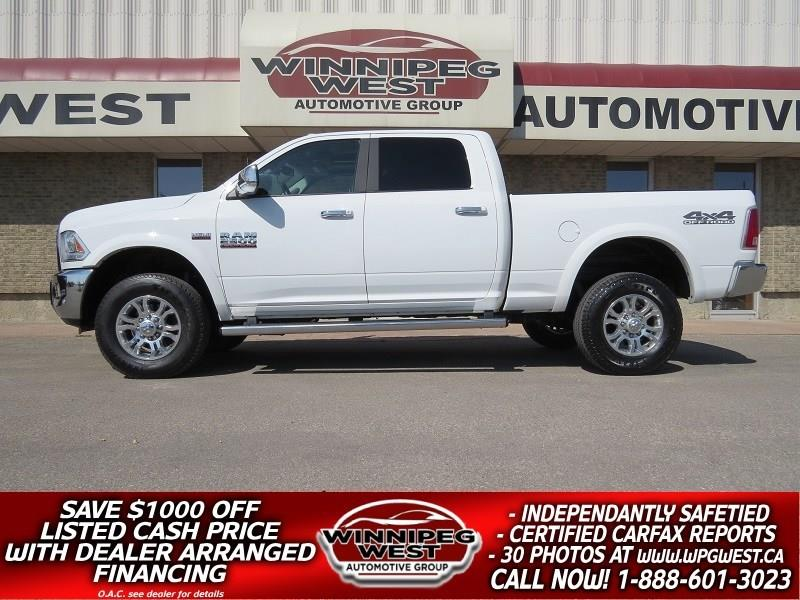 2017 Ram 2500 LARAMIE CREW 4X4, ROOF, LEATHER, NAV, AS NEW! #GW4698A
