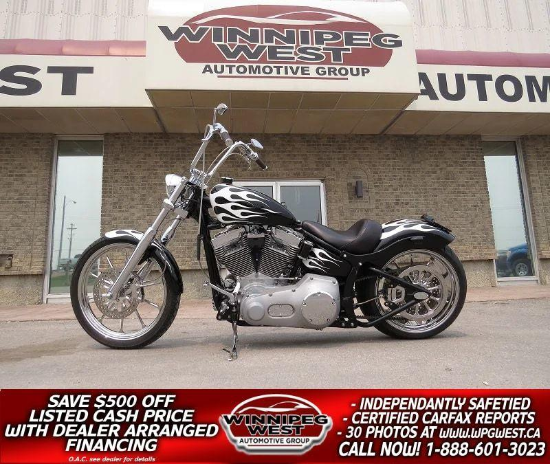 2005 Harley Davidson FXST Softail FULL CUSTOM, 240 REAR TIRE, OVER $40K INVESTED!! #W4481