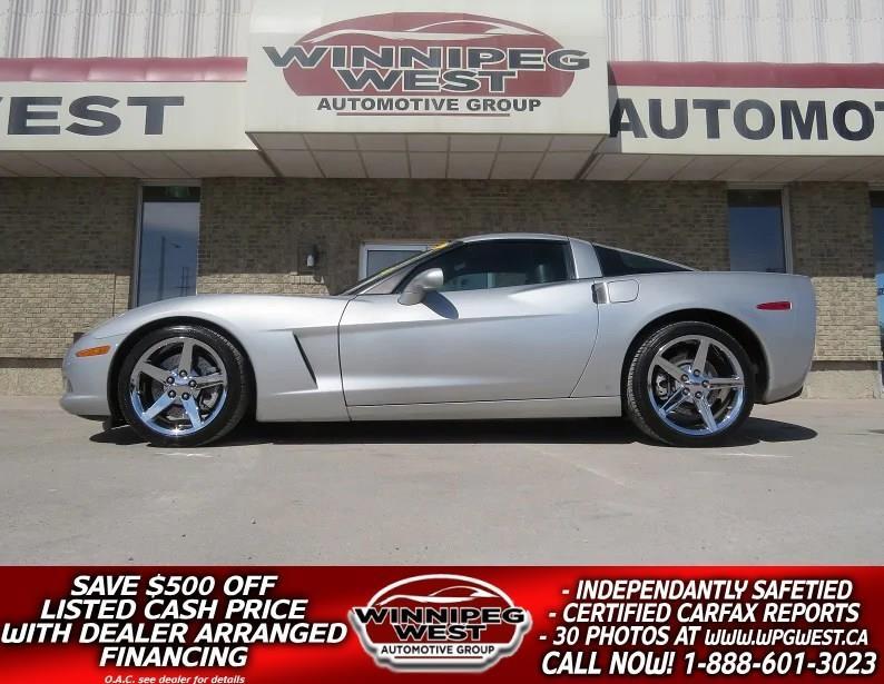 2008 Chevrolet Corvette 3LT TARGA 6-SPEED, HEATED LEATHER, NAVI, 1-OWNER #W4552