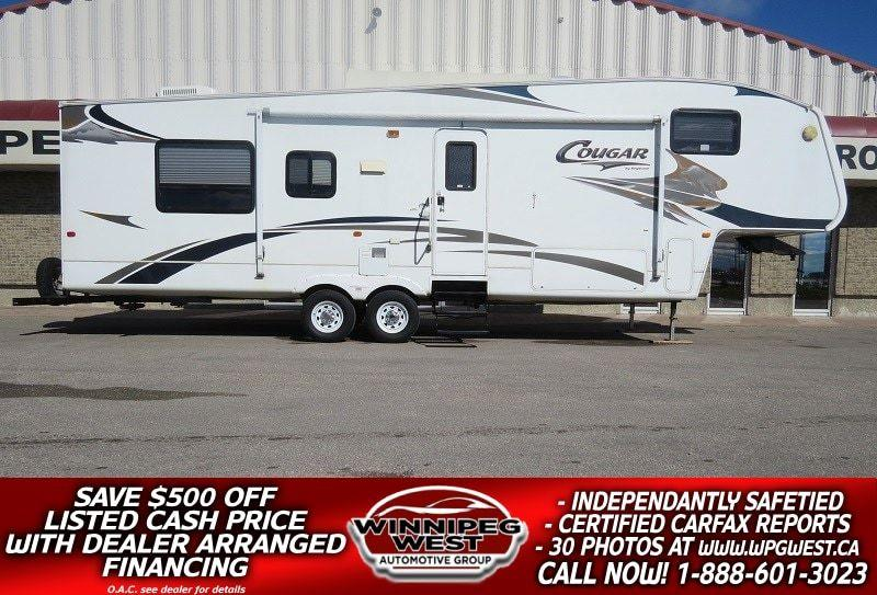 2007 Keystone RV COUGAR 311RLS 35FT REAR LOUNGE DOUBLE SLIDE WELL EQUIPPED, GREAT LAYOUT, HUGE VALUE! #W4733